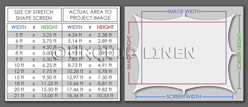 8-Point 16:9 Projection Screen