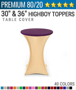 Premium Spandex Highboy Toppers
