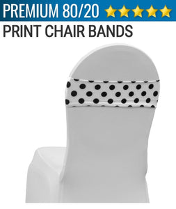 Spandex Print Chair Band