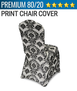 100pcs - Damask Spandex Print Chair Covers