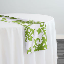 Newport Print (Dupioni) Table Runner in Avocado