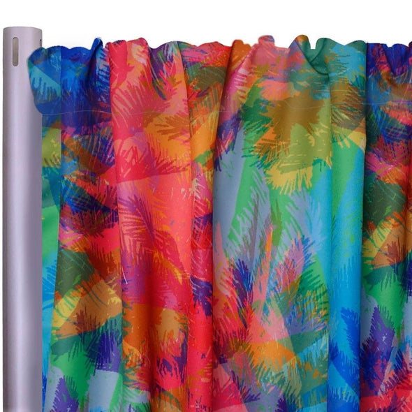 "Miami Vibes Poly Print Drapery Panels (58"" Wide)"