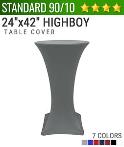 "Standard Spandex 24""x42"" Cocktail Highboy Table Cover"