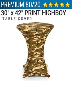 Spandex Print Highboy Tablecover
