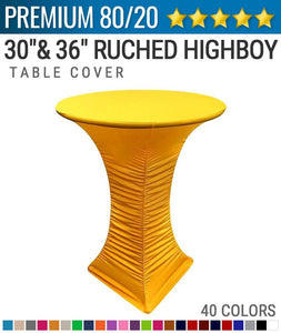 Premium Spandex Rouge Highboy Tablecover