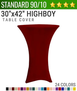 "Standard Spandex 30""x42"" Cocktail Highboy Table Cover"