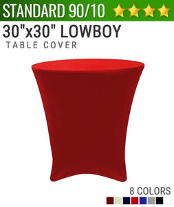 "Standard Spandex 30""x30"" Cocktail Lowboy Table Cover"