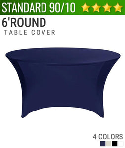 "Standard Spandex 72"" Round Table Cover"
