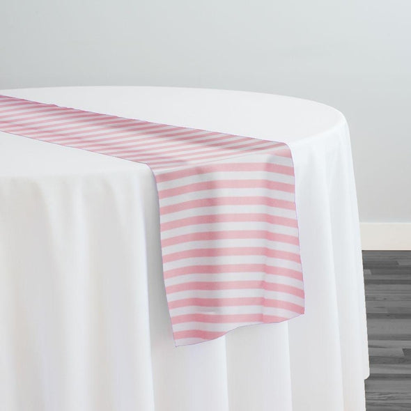 Seersucker Print Table Runner in Pink