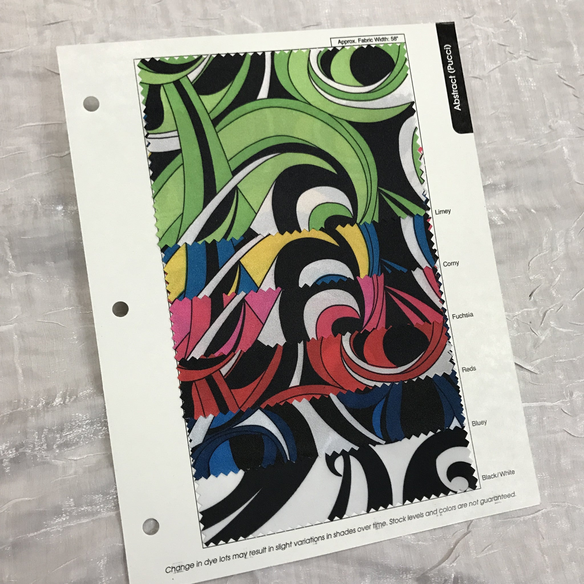 Abstract (Pucci) Color Card
