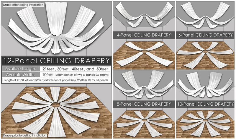 Accordion Taffeta Ceiling Drape Collection
