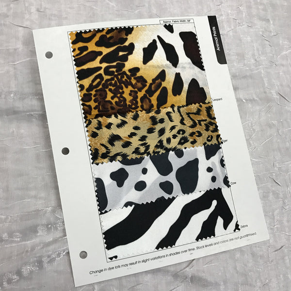 Animal Print Color Card