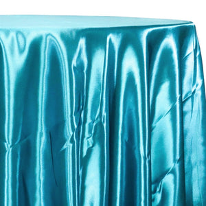Bridal Satin Table Linen in Aqua 916