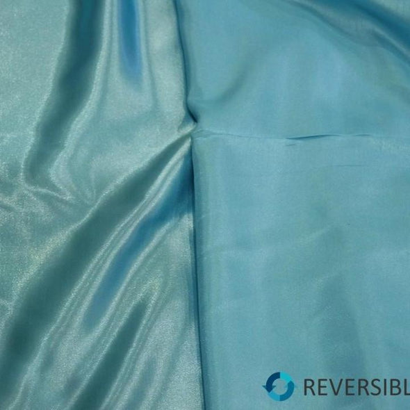 Shantung Satin Table Runner in Aqua