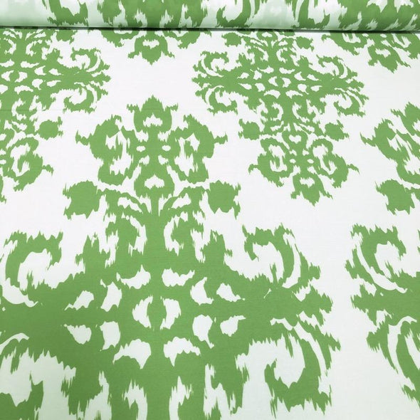 Newport Print (Dupioni) Table Linen in Avocado