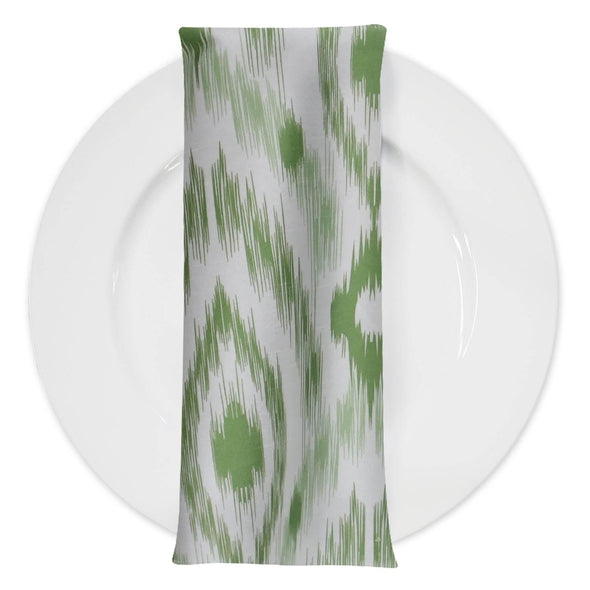 Cosmo Print (Dupioni) Table Napkin in Avocado