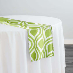 Groovy Print (Lamour) Table Runner in Avocado