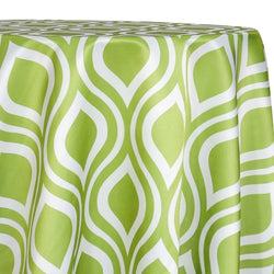 Groovy Print (Lamour) Table Linen in Avocado
