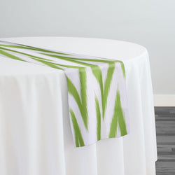 Horizon Poly Print Table Runner in Avocado