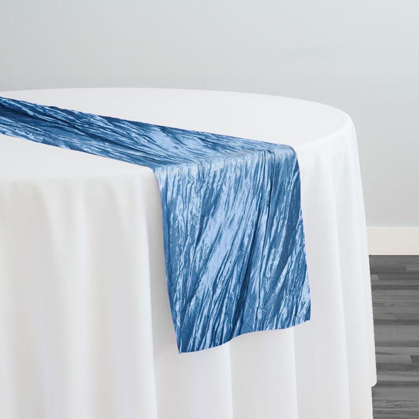Accordion Taffeta Table Runner in Azure