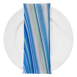 Multi-Color Stripe Table Napkin in Azure