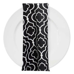Gatsby Print (Lamour) Table Napkin in Black