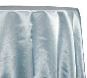 Shantung Satin (Reversible) Table Linen in Baby Blue