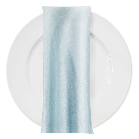 Shantung (Satin) Table Napkin in Baby Blue