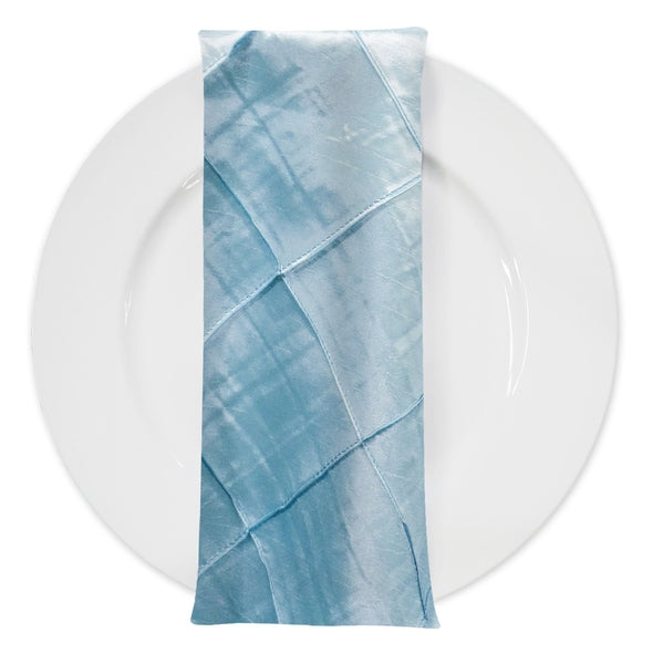 "4"" Pintuck Taffeta Table Napkin in Baby Blue 071"