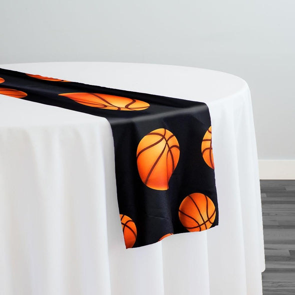 Sports (Poly Print) Table Runner in Basketball