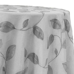 Birch Leaf Table Linen in Grey