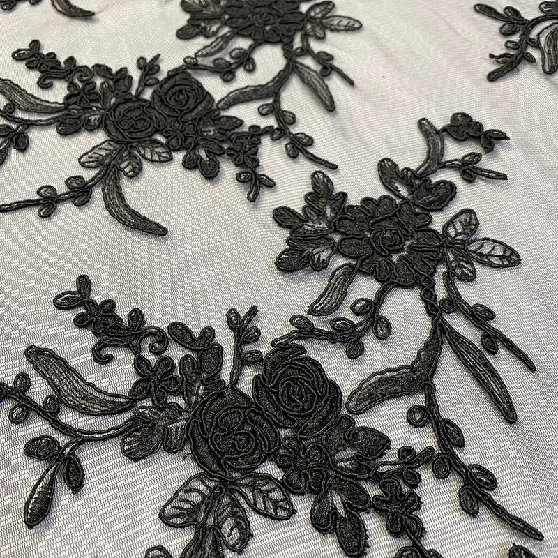 Laylani Lace Table Linen in Black