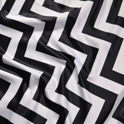 Chevron Print (Lamour) Table Linen in Black and White