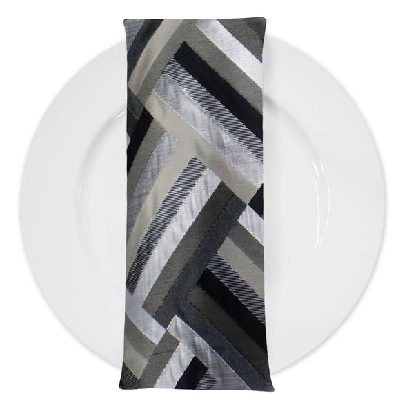 Broadway (Double-Sided) Table Napkin in Black