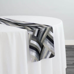 Broadway Jacquard (Reversible) Table Runner in Black