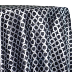 Mosaic Jacquard (Reversible) Table Linen in Black and Silver
