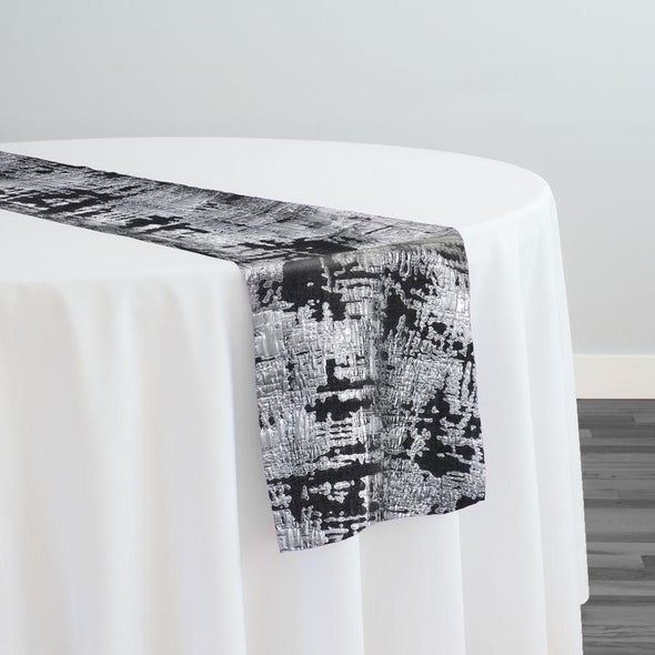 Calypso Jacquard (Reversible) Table Runner in Black