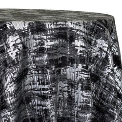 Calypso Jacquard (Reversible) Table Linen in Black