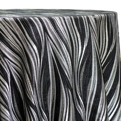Allure Jacquard Table Linen in Black and Silver