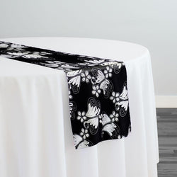 Butterfly Lace Table Runner in Black