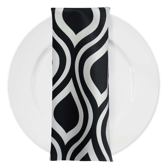 Groovy Print Lamour Table Napkin in Black