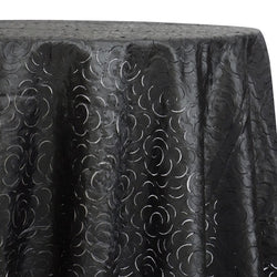Flora Rose Table Linen in Black
