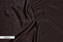 "2pcs - Shantung Satin - 12' Tall + 4"" Pocket - Black (Shiny Side Up)"