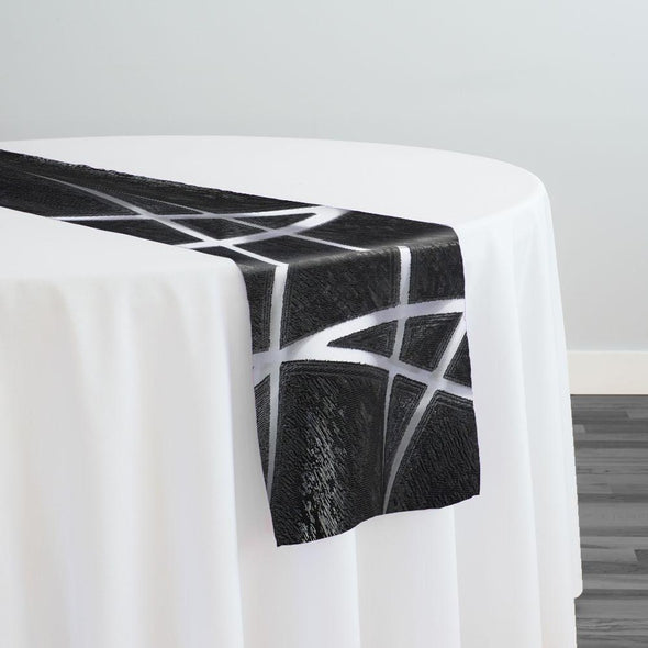 Atlas Sheer Table Runner in Black