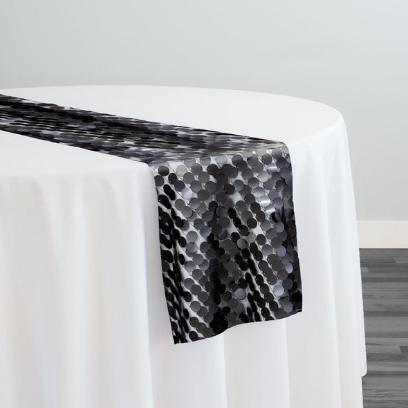 Payette Sequins Table Runner in Black
