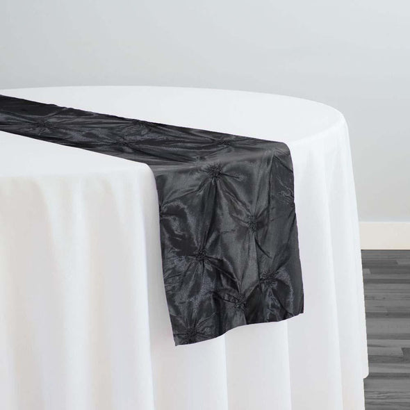 Belly Button (Pinwheel) Table Runner in Black