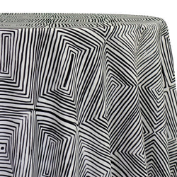 Modena (Poly Print) Table Linen in Black