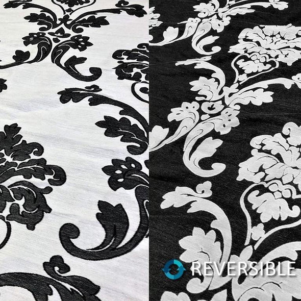 Madison Jacquard (Reversible) Table Runners in Black