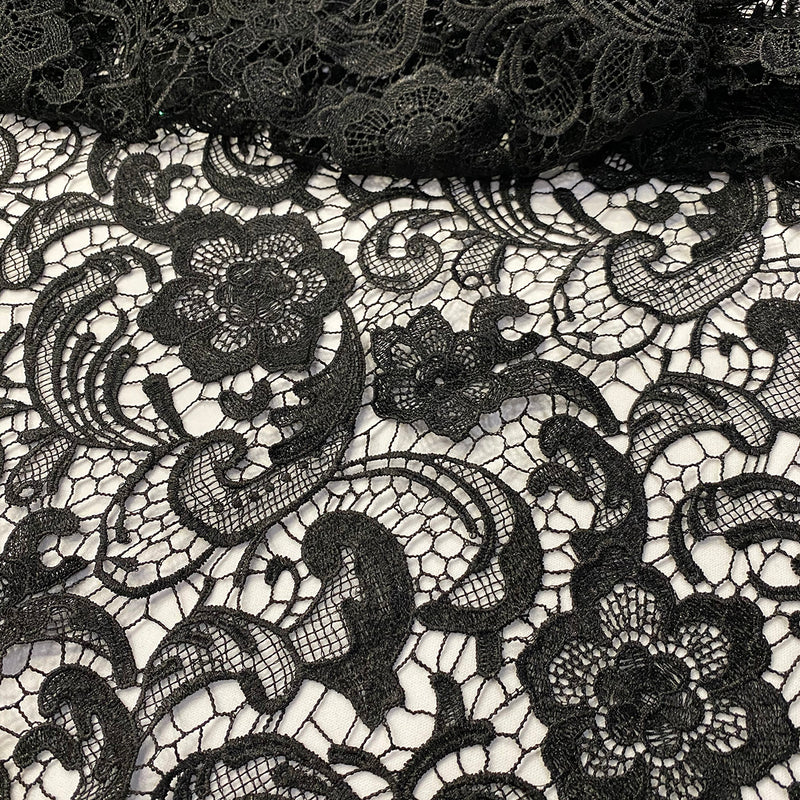 English Lace Wholesale Fabric in Black