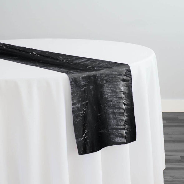 Crush Shimmer (Galaxy) Table Runner in Black